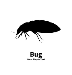 Silhouette bed bug vector