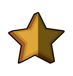 Star prize decoration shadow vector