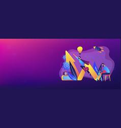 start up launch concept banner header vector image