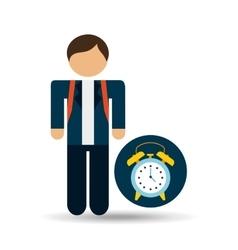 student uniform school clock design vector image