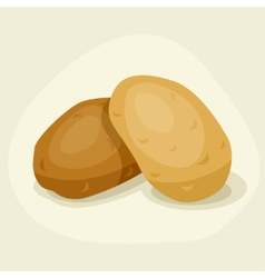 Stylized of fresh ripe potatoes vector