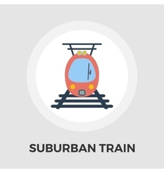 Suburban electric train flat icon vector