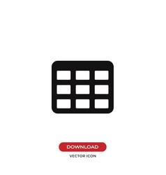 Table grid icon vector