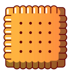 tasty biscuit icon cartoon style vector image