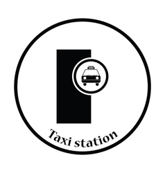 Taxi station icon vector image