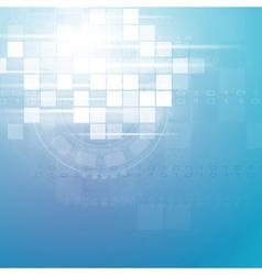 Technology blue backdrop vector image
