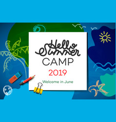 themed summer camp poster 2019 creative and vector image