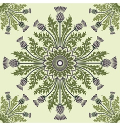 Thistle background vector