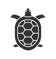 Tortoise glyph icon vector