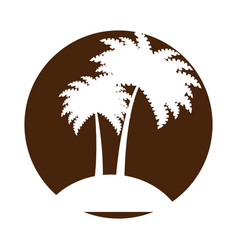 Tree palms isolated icon vector