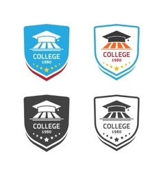 University emblem concept of school crest vector