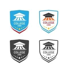 University emblem concept school crest vector