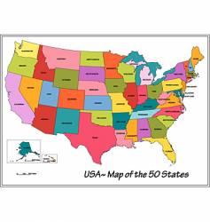 usa states vector image