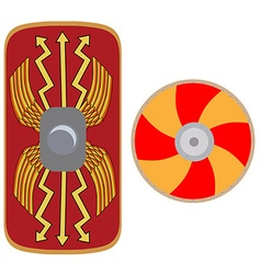 Viking and roman shield vector image