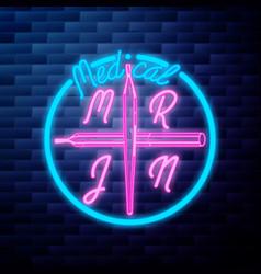 vintage medical marijuana emblem vector image