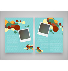 vintage templates with computer and notebook vector image