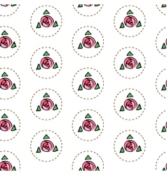 White seamless pattern with roses vector image