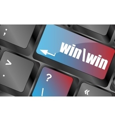 win button on computer keyboard key vector image
