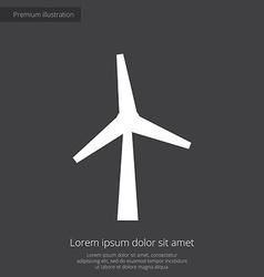 wind mill premium icon white on dark background vector image