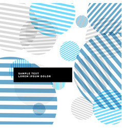 Abstract stripes circles background with blue vector