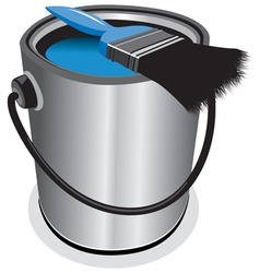 blue paint vector image vector image