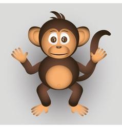 cute chimpanzee little monkey cartoon character vector image vector image