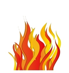 flame fire hot red orange yellow icon vector image