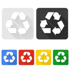 Recycle Symbol with Shadow vector image vector image