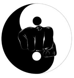 Fist Yin Yang vector image vector image