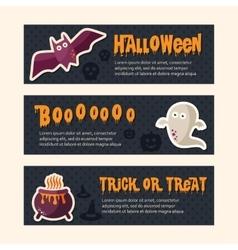 Happy halloween banners vector
