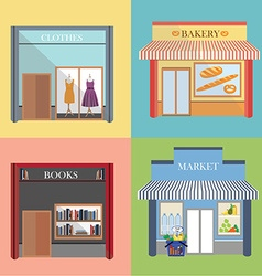 Shop and store vector image
