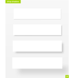 White rectangular banners with drop shadow vector image vector image