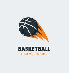 basketball player logo template creative sport vector image