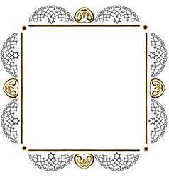 decorative vintage frame jewish star vector image vector image