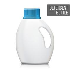 detergent bottle realistic mock up white vector image