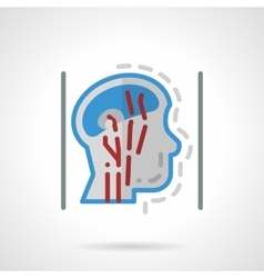 Head blood supply abstract flat icon vector image vector image