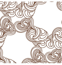 seamless black and white doodle patter vector image vector image