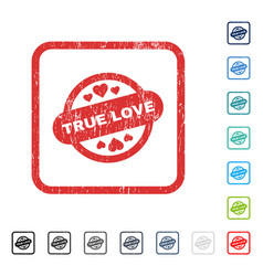 true love stamp seal icon rubber watermark vector image vector image