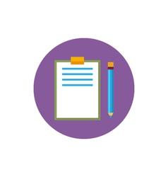 Clipboard with a pencil icon vector image