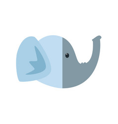 elephant head cartoon vector image