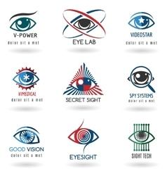 Eye logo set vector image vector image