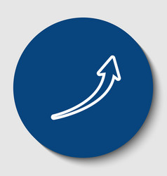 growing arrow sign white contour icon in vector image vector image