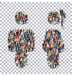Man woman people sign 3d vector image vector image