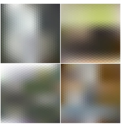 Abstract unfocused natural backgrounds blurred vector image