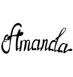 Amanda name lettering vector