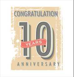 Anniversary banner collection 10 years vector