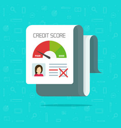 Bad credit score report flat vector