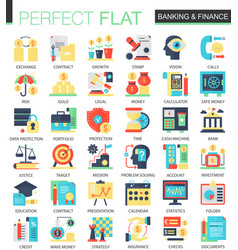 banking and finance complex flat icon vector image
