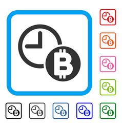 bitcoin credit clock framed icon vector image
