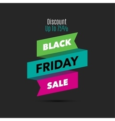 Black Friday sale design template Creative banner vector image